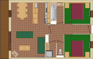 4-7 Person Apartment Plan