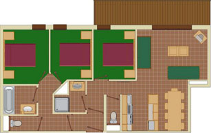 6-9 Person Apartment Plan